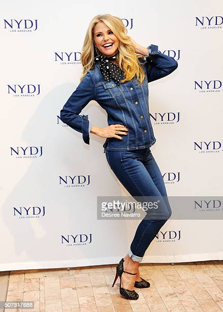 Model Christie Brinkley attends NYDJ 2016 Fit To Be Campaign Launch at Lord Taylor on January 28 2016 in New York City