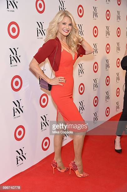 Model Christie Brinkley attends Target IMG's NYFW kickoff at The Park at Moynihan Station on September 6 2017 in New York City