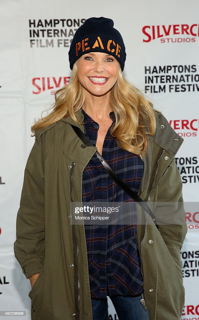 Model Christie Brinkley attends the Chairman's Reception during Day 3 of the 23rd Annual Hamptons International Film Festival on October 10, 2015 in East Hampton, New York.