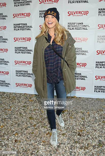 Model Christie Brinkley attends the Chairman's Reception during Day 3 of the 23rd Annual Hamptons International Film Festival on October 10 2015 in...