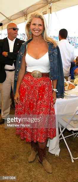 Model Christie Brinkley attends the Prudential Financial Grand Prix Hamptons Classic Horse Show August 31 2003 in Bridgehampton New York