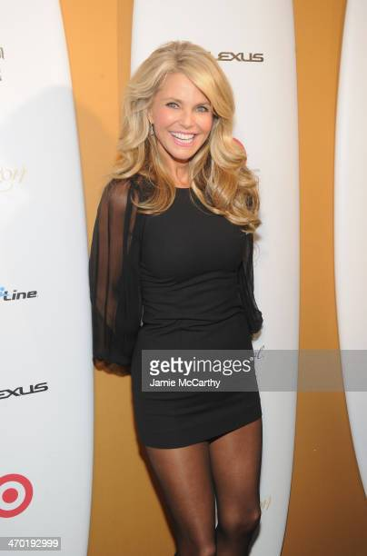 Model Christie Brinkley attends the Sports Illustrated Swimsuit 50 Years of Swim in NYC Celebration at the Sports Illustrated Swimsuit Beach House on...