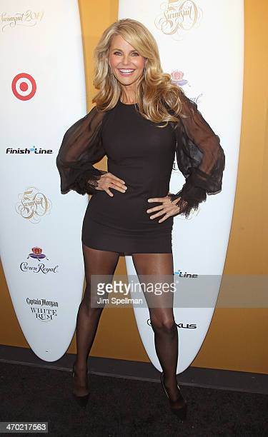Model Christie Brinkley attends the Sports Illustrated Swimsuit 50th Anniversary Party at Swimsuit Beach House on February 18 2014 in New York City