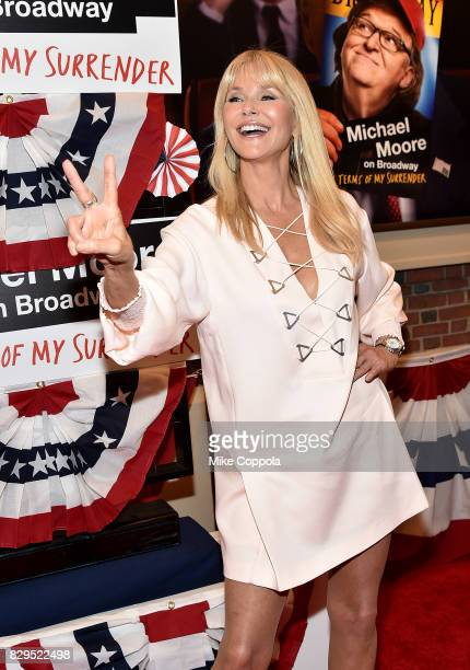 Model Christie Brinkley attends 'The Terms Of My Surrender' Broadway Opening Night at Belasco Theatre on August 10 2017 in New York City