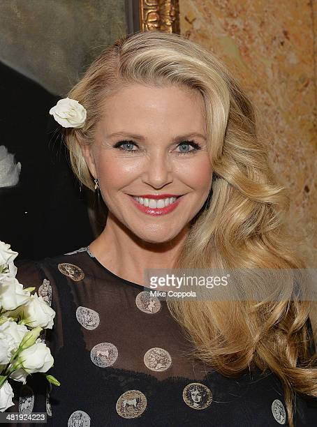 Model Christie Brinkley poses for a picture after her daughter Alexa Ray Joel performed at Cafe Carlyle on April 1 2014 in New York City