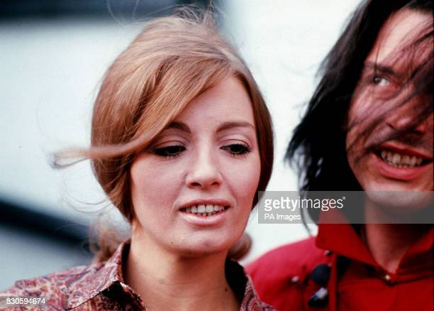 Model Christine Keeler and photographer David Bailey in London for the launch of Bailey's book 'Goodbye Baby Amen' Keeler became notorious for her...