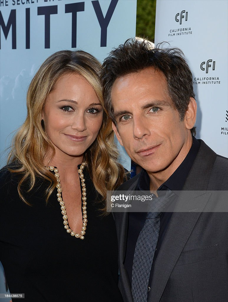 Model <a gi-track='captionPersonalityLinkClicked' href=/galleries/search?phrase=Christine+Taylor&family=editorial&specificpeople=201985 ng-click='$event.stopPropagation()'>Christine Taylor</a> and Actor <a gi-track='captionPersonalityLinkClicked' href=/galleries/search?phrase=Ben+Stiller&family=editorial&specificpeople=201806 ng-click='$event.stopPropagation()'>Ben Stiller</a> arrive during the 36th Annual Mill Valley Film Festival at CineArts Sequoia Theatre on October 13, 2013 in Mill Valley, California.
