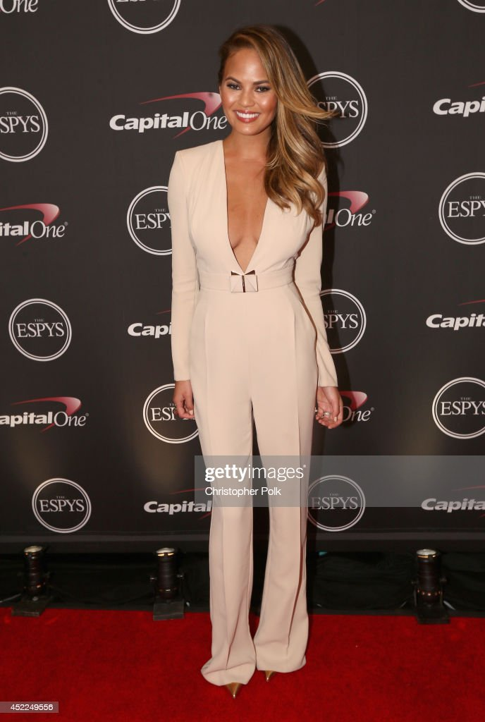 Model <a gi-track='captionPersonalityLinkClicked' href=/galleries/search?phrase=Christine+Teigen&family=editorial&specificpeople=4583768 ng-click='$event.stopPropagation()'>Christine Teigen</a> attends The 2014 ESPY Awards at Nokia Theatre L.A. Live on July 16, 2014 in Los Angeles, California.