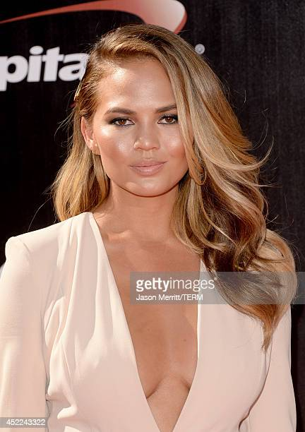 Model Christine Teigen attends The 2014 ESPYS at Nokia Theatre LA Live on July 16 2014 in Los Angeles California