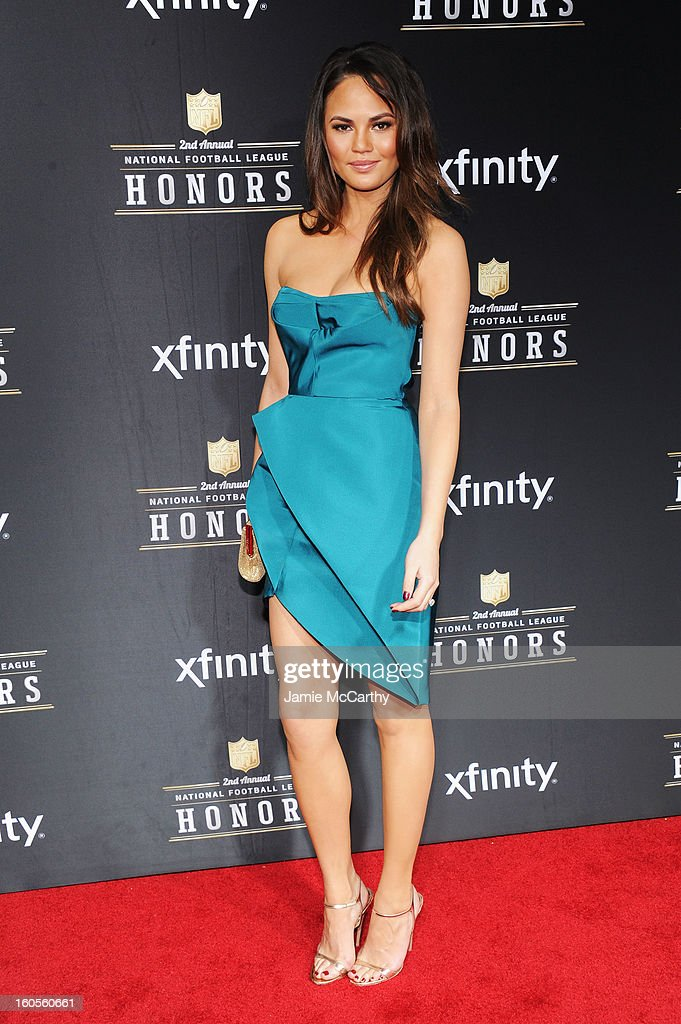 Model Christine Teigen attends the 2nd Annual NFL Honors at Mahalia Jackson Theater on February 2, 2013 in New Orleans, Louisiana.