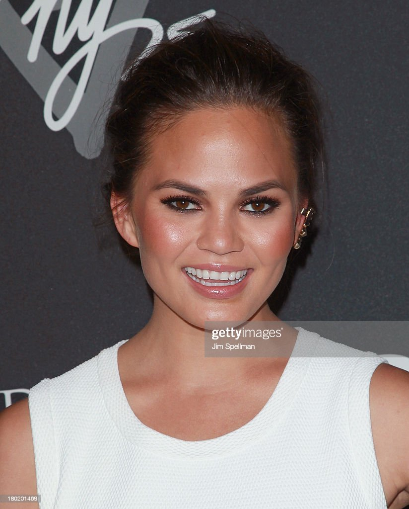 Model Christine Teigen attends the #DKNY25 Birthday Bash at 23 Wall Street on September 9, 2013 in New York City.
