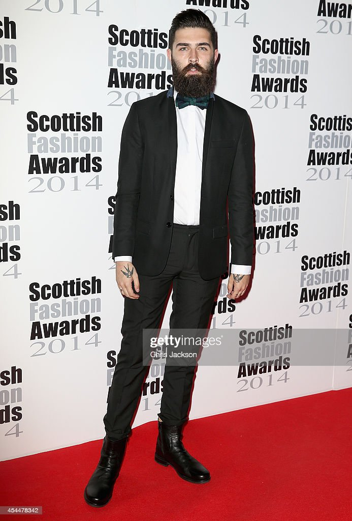 Model Christopher Millington attends The Scottish Fashion Awards on September 1, 2014 in London, England.