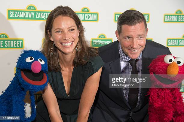 Model Christy Turlington and Actor Ed Burns attend the Sesame Workshop's 13th Annual Benefit Gala at Cipriani 42nd Street on May 27 2015 in New York...