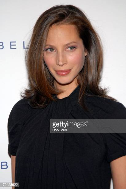 Model Christy Turlington arrives at Maybelline's luncheon honoring Women Who Inspire Confidence Through Education at the New York City Public Library...