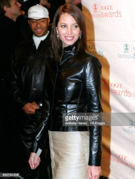 Model Christy Turlington at the VH1 Fashion Awards held at the Armory in New York