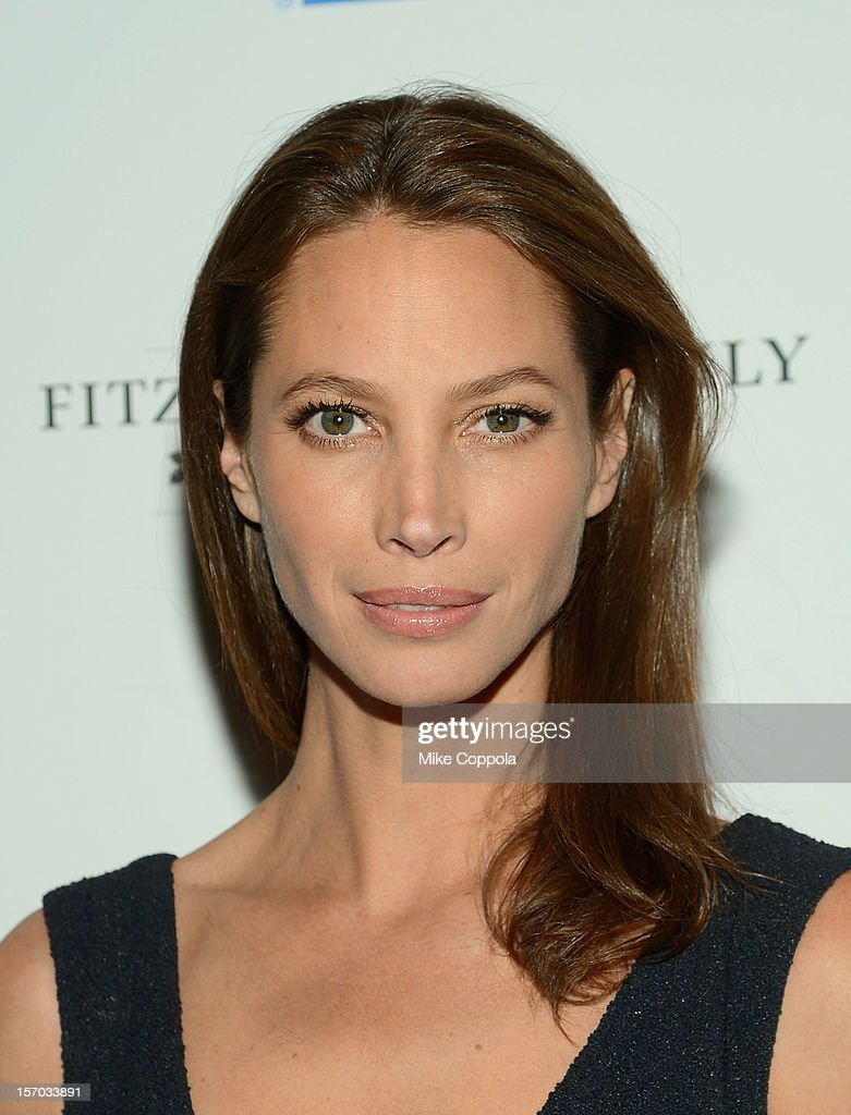 Model Christy Turlington attend Tribeca Film's Special New York Screening Of 'The Fitzgerald Family Christmas' at Tribeca Grand Hotel on November 27, 2012 in New York City.