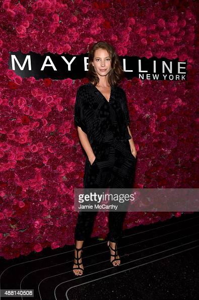 Model Christy Turlington attends Maybelline New York Celebrates New York Fashion Week at Sixty Five on September 13 2015 in New York City