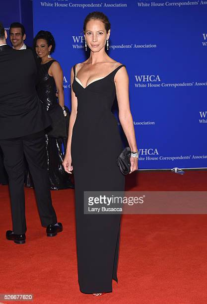 Model Christy Turlington attends the 102nd White House Correspondents' Association Dinner on April 30 2016 in Washington DC