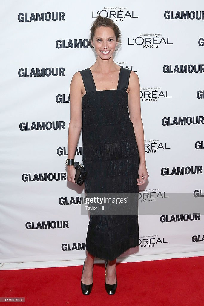 Model <a gi-track='captionPersonalityLinkClicked' href=/galleries/search?phrase=Christy+Turlington&family=editorial&specificpeople=207046 ng-click='$event.stopPropagation()'>Christy Turlington</a> attends the Glamour Magazine 23rd annual Women Of The Year gala on November 11, 2013 in New York, United States.