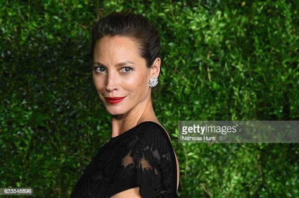 Model Christy Turlington attends the MoMA Film Benefit presented by CHANEL A Tribute To Tom Hanks at MOMA on November 15 2016 in New York City