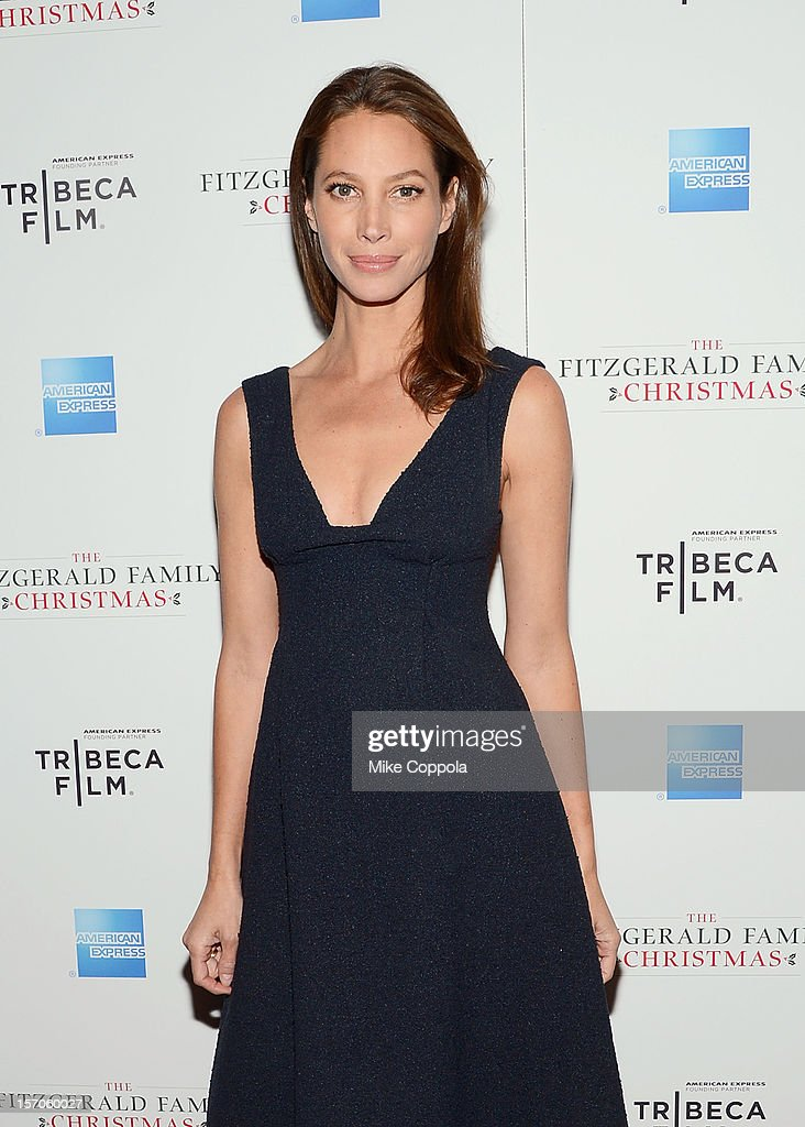 Model Christy Turlington attends Tribeca Film's Special New York Screening Of 'The Fitzgerald Family Christmas' at Tribeca Grand Hotel on November 27, 2012 in New York City.