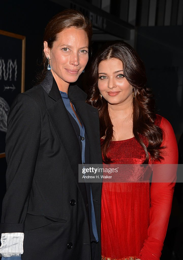 Model Christy Turlington Burns and actress Aishwarya Rai attend United Nations Every Woman Every Child Dinner 2012 on September 25, 2012 in New York, United States.