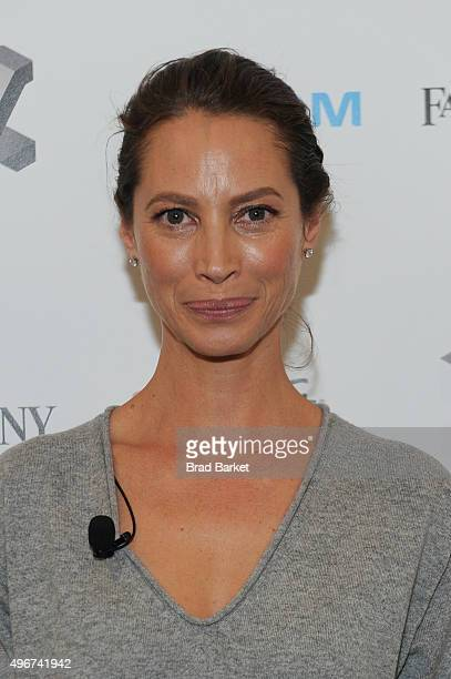 Model Christy Turlington Burns appears during The Fast Company Innovation Festival presentation of 'The Creativity Of Giving TOMS Founder Blake...