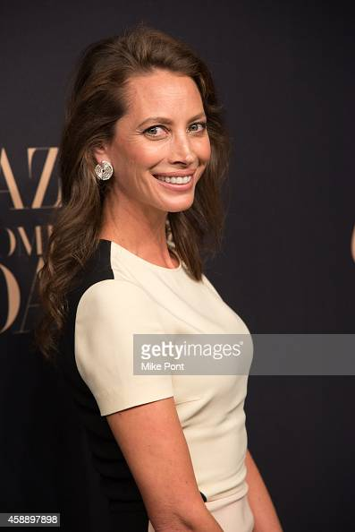 Model Christy Turlington Burns attends a dinner celebrating Women Who Dare hosted by Panthere De Cartier and Harper's Bazaar at Skylight Clarkson Sq...