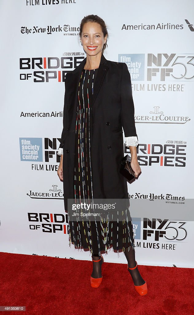 Model Christy Turlington Burns attends the 53rd New York Film Festival premiere of 'Bridge Of Spies' at Alice Tully Hall, Lincoln Center on October 4, 2015 in New York City.