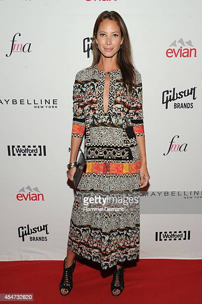 Model Christy Turlington Burns attends The Daily Front Row Second Annual Fashion Media Awards at Park Hyatt New York on September 5 2014 in New York...
