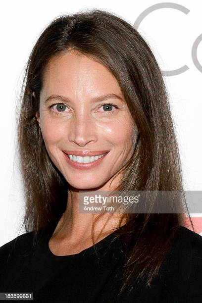 Model Christy Turlington Burns attends the Every Mother Counts Benefit Hosted By Calvin Klein Underwear And Christy Turlington Burns at Macy's Stella...