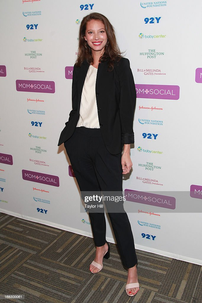 Model Christy Turlington Burns attends the Mom + Social Event at the 92Y Tribeca on May 8, 2013 in New York City.