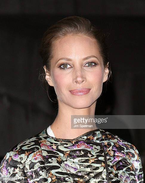 Model Christy Turlington Burns attends the Vanity Fair Party during the 9th Annual Tribeca Film Festival at New York State Supreme Court on April 20...
