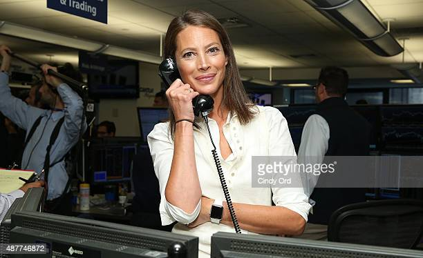 Model Christy Turlington Burns participates in the annual Charity Day hosted by Cantor Fitzgerald and BGC at Cantor Fitzgerald on September 11 2015...