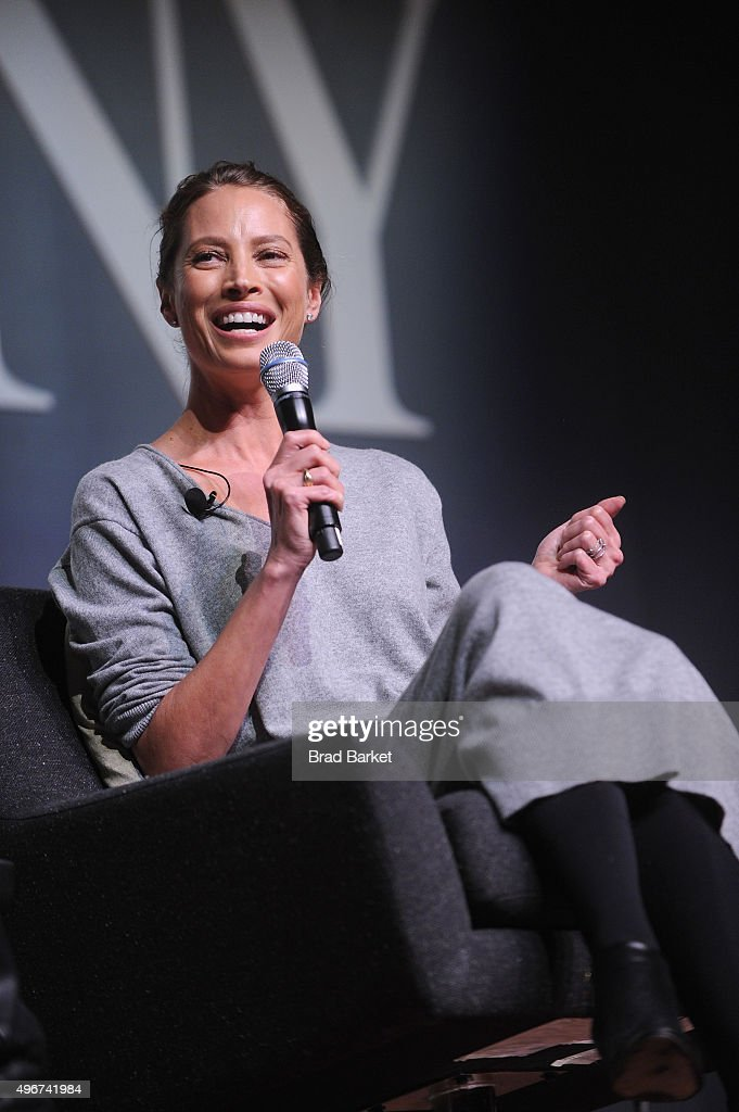 Model Christy Turlington Burns speaks during The Fast Company Innovation Festival presentation of 'The Creativity Of Giving: TOMS Founder Blake Mycoskie and Social Entrepreneur Christy Turlington Burns On How Giving Makes For Better Business' on November 11, 2015 in New York City.