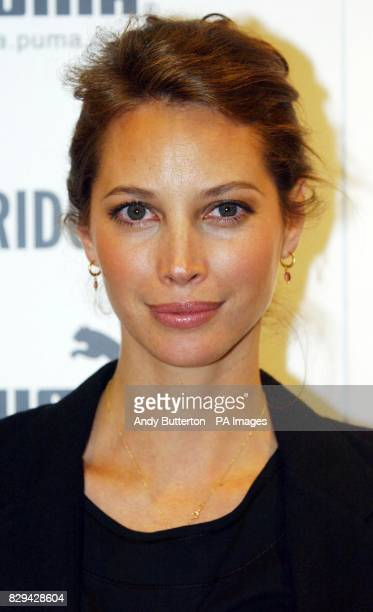 Model Christy Turlington during an in store appearance at Selfridges in central London to present the Spring/Summer 05 collection of her PUMA nuala...