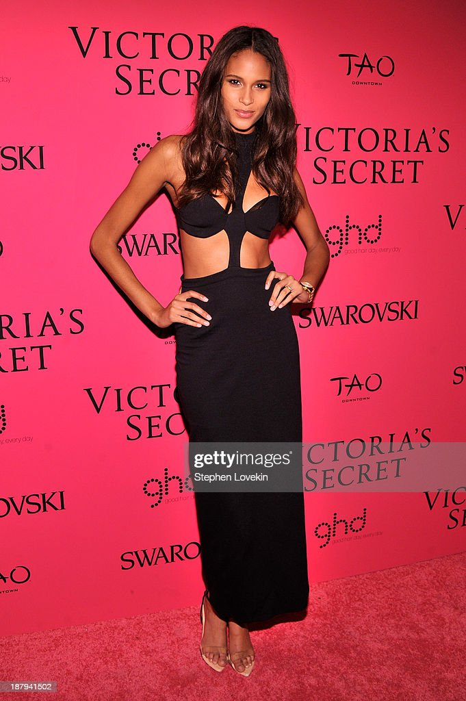 Model Cindy Bruna attends the 2013 Victoria's Secret Fashion Show at TAO Downtown on November 13, 2013 in New York City.