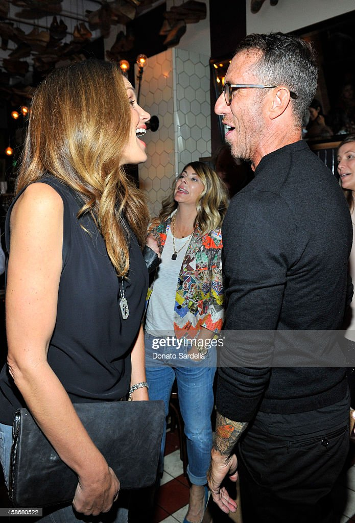 Model Cindy Crawford and hairstylist Chris McMillan attend ...