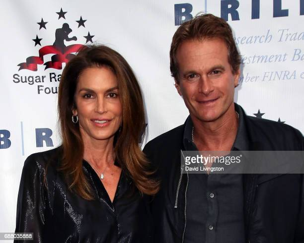 Model Cindy Crawford and husband businessman Rande Gerber attend the 8th Annual 'Big Fighters Big Cause' Charity Boxing Night at the Loews Santa...