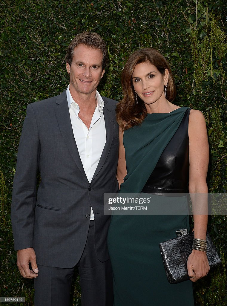 Model <a gi-track='captionPersonalityLinkClicked' href=/galleries/search?phrase=Cindy+Crawford&family=editorial&specificpeople=202842 ng-click='$event.stopPropagation()'>Cindy Crawford</a> and <a gi-track='captionPersonalityLinkClicked' href=/galleries/search?phrase=Rande+Gerber&family=editorial&specificpeople=549565 ng-click='$event.stopPropagation()'>Rande Gerber</a> attend the CHANEL Dinner For NRDC 'A Celebration Of Art, Nature And Technology' held at a private residence on May 31, 2013 in Los Angeles, California.