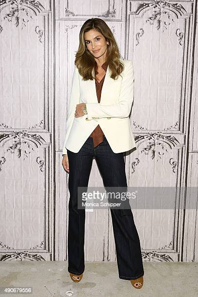 Model Cindy Crawford attends AOL Build Presents Cindy Crawford's 'Becoming' at AOL Studios In New York on September 30 2015 in New York City