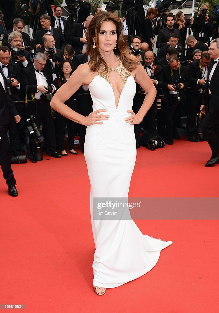Model Cindy Crawford attends Electrolux at Opening Night of The 66th Annual Cannes Film Festival at the Theatre Lumiere on May 15, 2013 in Cannes, France.