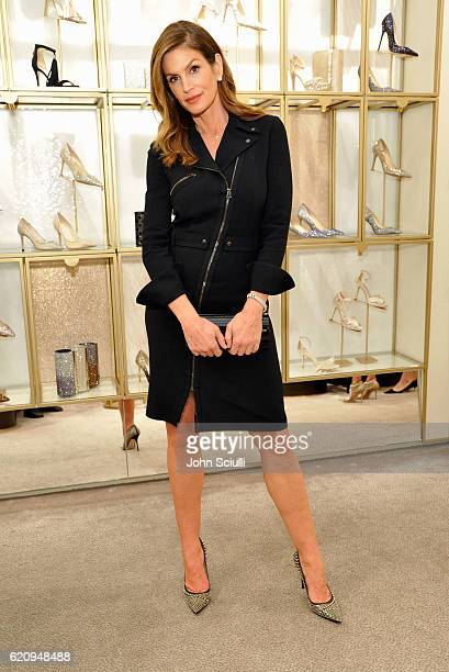 Model Cindy Crawford attends Jimmy Choo in association with Cindy Crawford and Katharina Harf to host an evening to support Delete Blood Cancer on...