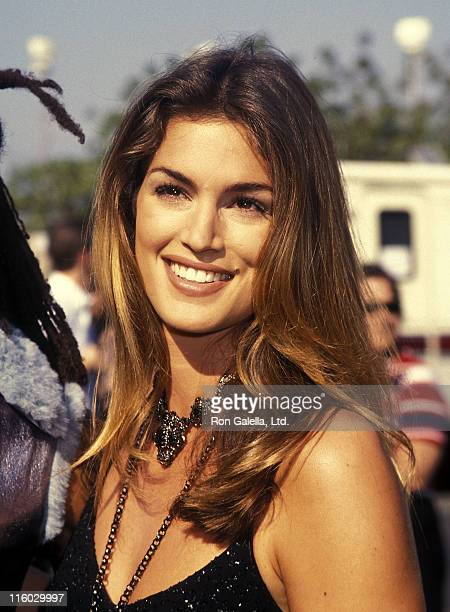 Model Cindy Crawford attends the 10th Annual MTV Video Music Awards on September 2 1993 at Universal Amphitheatre in Universal City California