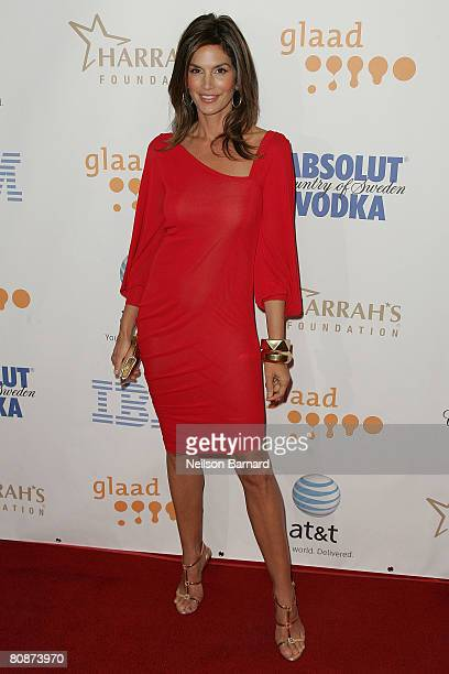 Model Cindy Crawford attends the 19th Annual GLAAD Media Awards held at the Kodak Theatre on April 26 2008 in Hollywood California