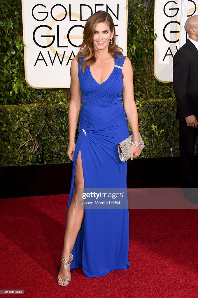 Model cindy crawford attends the 72nd annual golden globe awards at