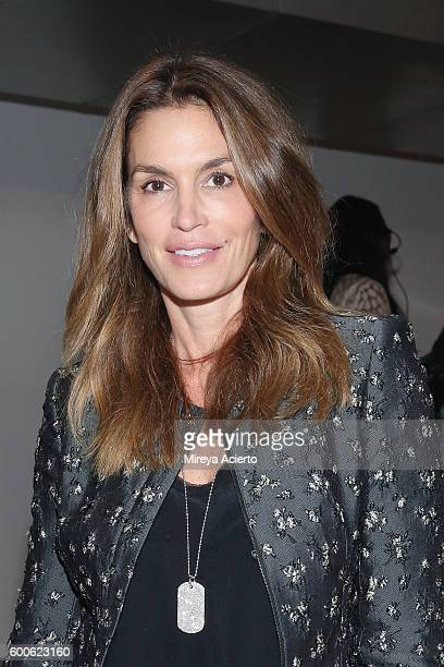 Model Cindy Crawford attends the Brock Collection fashion show during MADE Fashion Week September 2016 at Milk Studios on September 8 2016 in New...