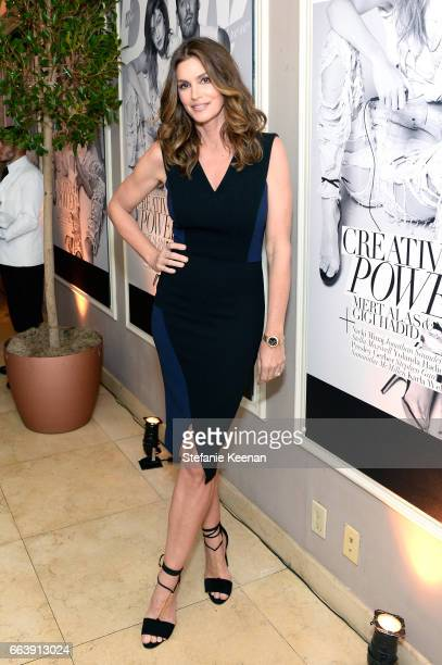 Model Cindy Crawford attends the Daily Front Row's 3rd Annual Fashion Los Angeles Awards at Sunset Tower Hotel on April 2 2017 in West Hollywood...