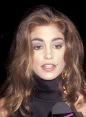 Model Cindy Crawford attends the Fifth Annual California Industry Friends of AIDS Project Los Angeles Fashion Show and Dinner to Honor Gianni Versace...