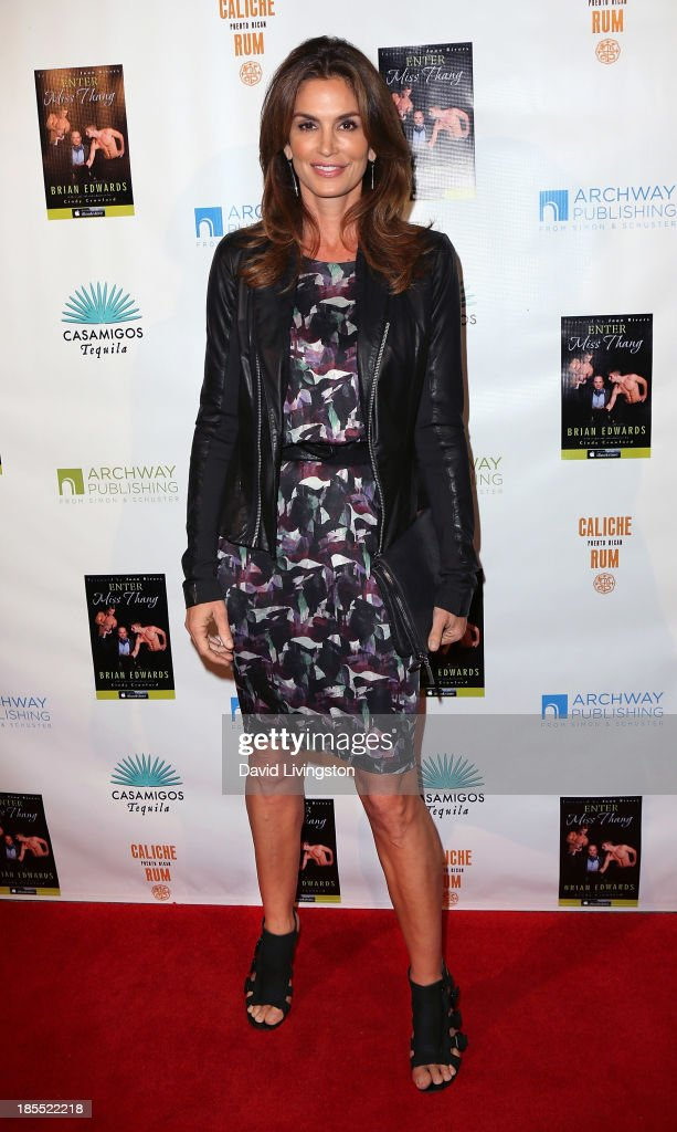 Model <a gi-track='captionPersonalityLinkClicked' href=/galleries/search?phrase=Cindy+Crawford&family=editorial&specificpeople=202842 ng-click='$event.stopPropagation()'>Cindy Crawford</a> attends the launch party for Brian Edwards' book 'Enter Miss Thang' at Cafe Habana on October 21, 2013 in Malibu, California.